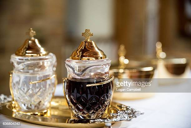 Images Of Communion Bread And Wine Stock Photos and ...