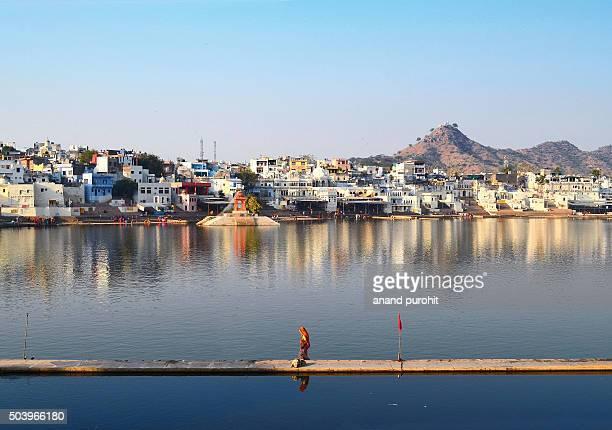 Holy Pushkar lake, Rajasthan, India