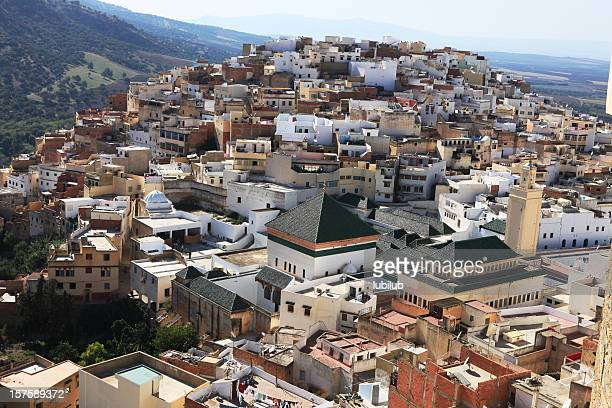 Holy town of Moulay Idriss in Morocco