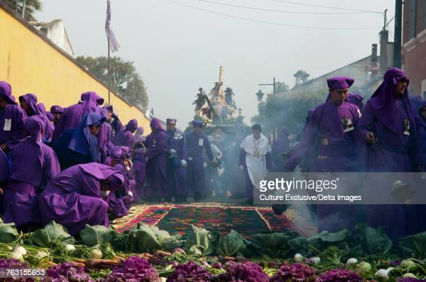 Holy week procession, Antigua, Sacatepequez, Guatemala