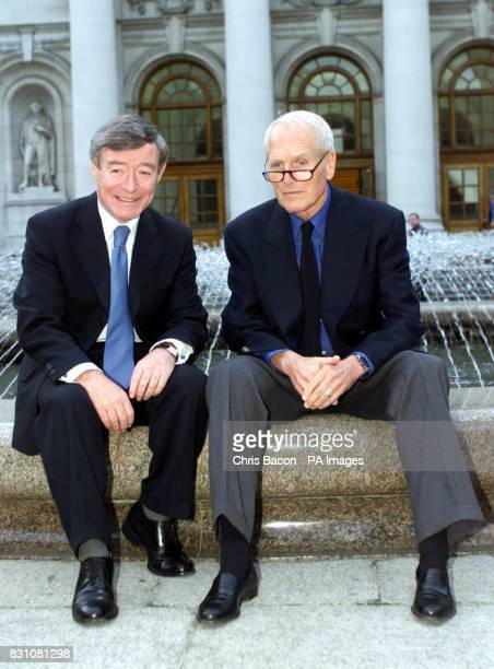 Holywood legend Paul Newman with Seamus Brennan chairman of the National Millennium Committee at Government Buildings in Dublin where Newman thanked...