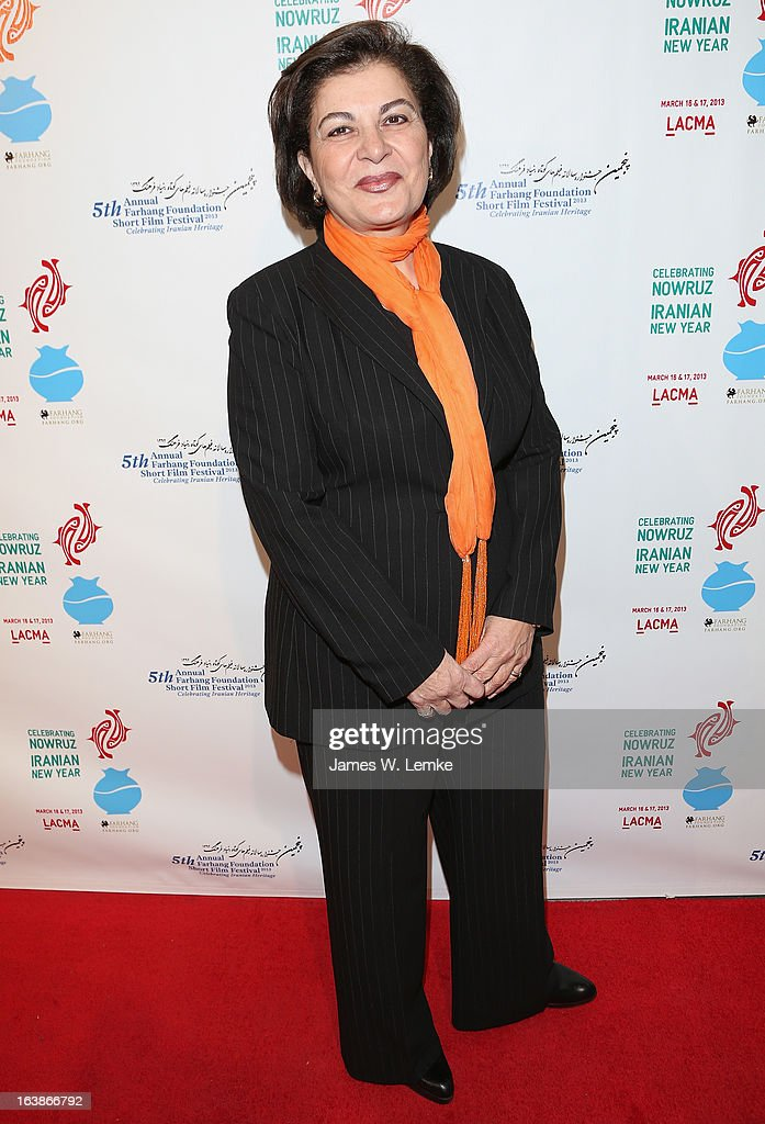 Homa Sarshar attends the 2013 Farhang Foundation Short Film Festival held at the Bing Theatre at LACMA on March 16, 2013 in Los Angeles, California.