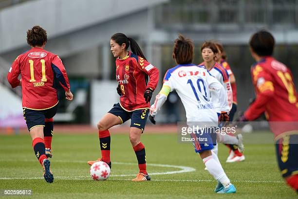 Homare Sawa of INAC Kobe Leonessa in action during the 37th Empress's Cup All Japan Women's Championship final match between INAC Kobe Leonessa v...