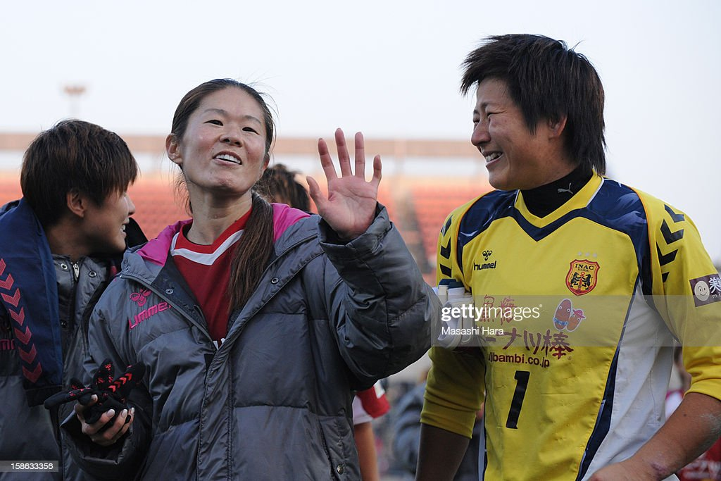 <a gi-track='captionPersonalityLinkClicked' href=/galleries/search?phrase=Homare+Sawa&family=editorial&specificpeople=744563 ng-click='$event.stopPropagation()'>Homare Sawa</a> #8 of INAC Kobe Leonessa looks on after the 34th Empress's Cup All Japan Women's Football Tournament semi final match between INAC Kobe Leonessa and Urawa Red Diamonds Ladies at Nack 5 Stadium Omiya on December 22, 2012 in Saitama, Japan.