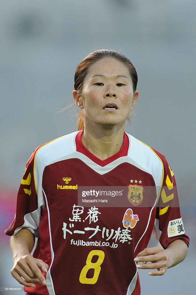 Homare Sawa #8 of INAC Kobe Leonessa looks on during the Nadeshiko League Cup Final match between NTV Beleza and INAC Kobe Leonessa at NACK 5 Stadium Omiya on September 9, 2012 in Saitama, Japan.