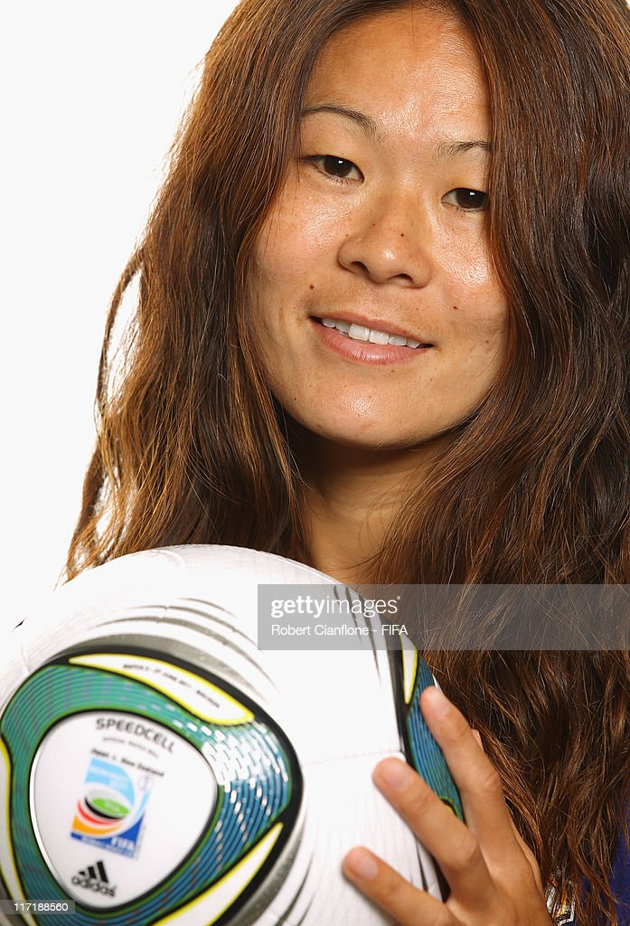 Homare Sawa of Japan during the FIFA portrait session on June 24, 2011 in Bochum, Germany.