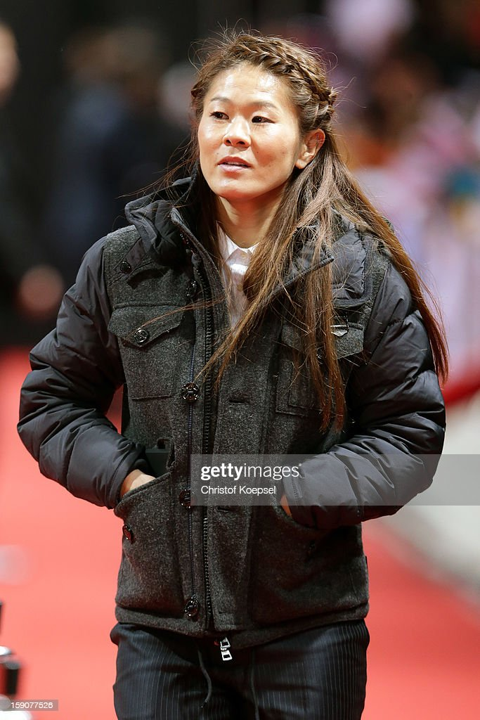 Homare Sawa of Japan poses during the red carpet arrivals for the FIFA Ballon d'Or Gala 2012 on January 7, 2013 at Congress House in Zurich, Switzerland.