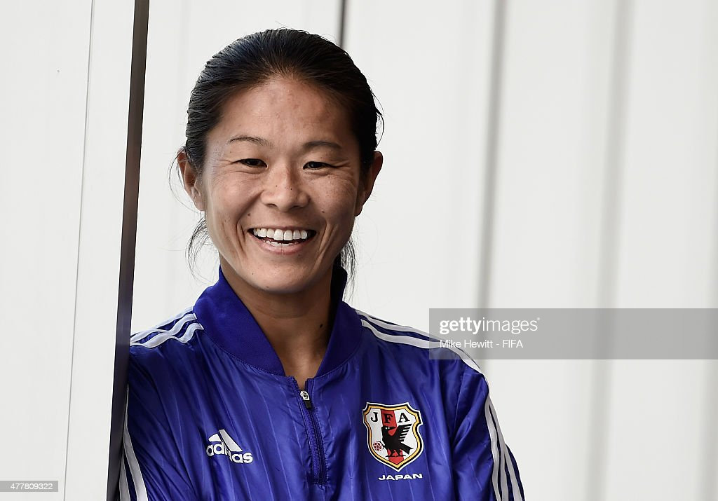 Homare Sawa of Japan poses for a photo on June 19, 2015 in Vancouver, Canada.