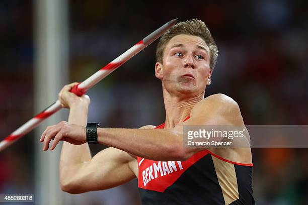 homas Rohler of Germany competes in the Men's Javelin final during day five of the 15th IAAF World Athletics Championships Beijing 2015 at Beijing...