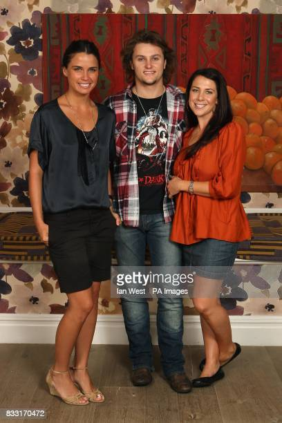 Home and Away cast members Mark Furze Jodi Gordon and Kate Ritchie during a portrait session at the Charlotte Street Hotel in central London Issue...