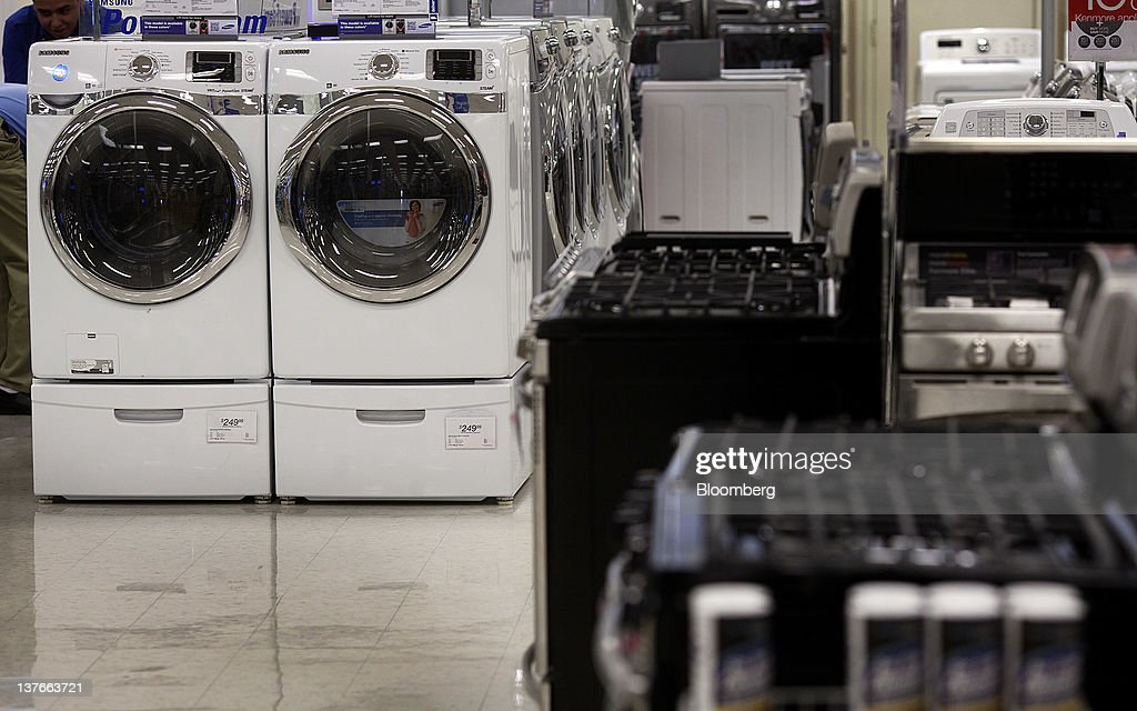 Home appliances are displayed for sale at a Sears Holdings Corp. store in Jersey City, New Jersey, U.S., on Tuesday, Jan. 24, 2012. The U.S Census Bureau is scheduled to release durable goods data on Jan. 26. Photographer: Victor J. Blue/Bloomberg via Getty Images