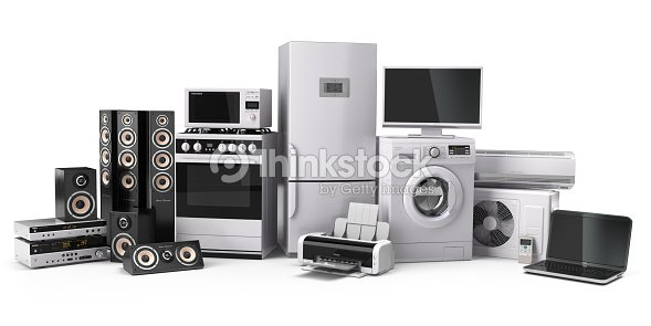 Home appliances gas cooker tv cinema refrigerator air conditi stock photo thinkstock - Home appliances that we thought ...