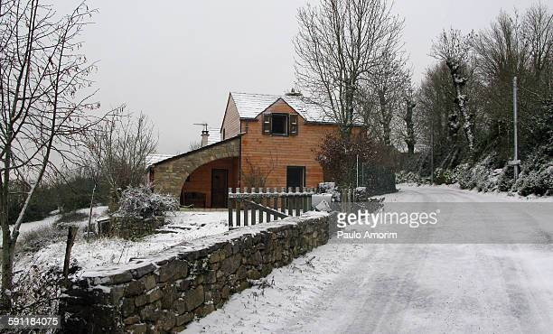 Home at mountain during winter in France