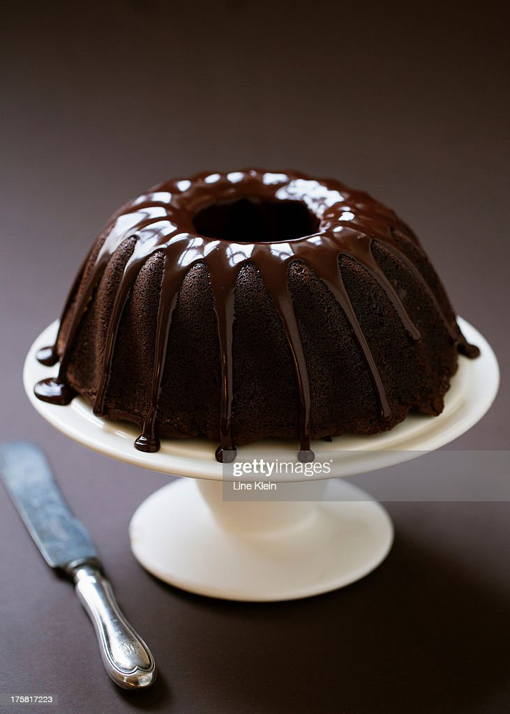 Home baked chocolate cake : Stock Photo
