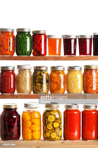 Home Canning Jars for Preserving Fall Harvest Vegetables and Fruits