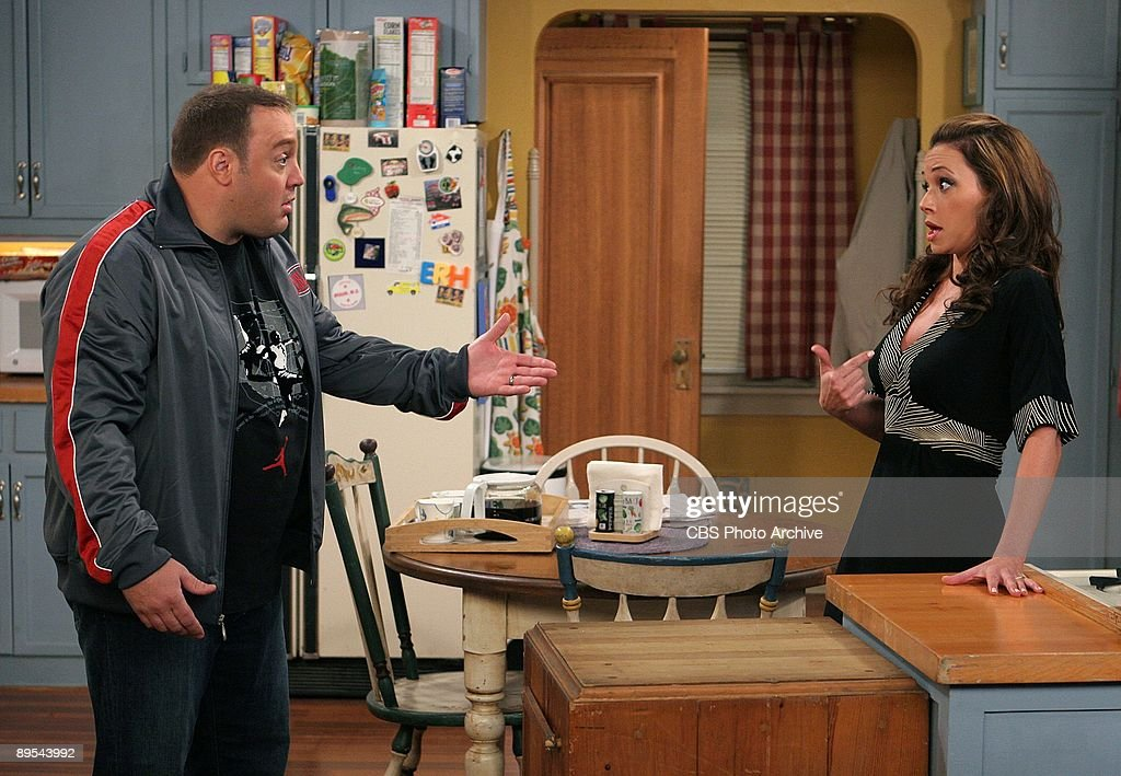'Home Cheapo' -- When Carrie (Leah Remini) learns that Deacon and Kelly bought a second home, she convinces Doug (Kevin James) that they were able to afford it because they were so cheap, on the 200th episode of The King of Queens, Monday, April 9 (9:30-10:00 PM, ET/PT) on the CBS Television Network.