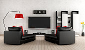 Living Room with home cinema equipment