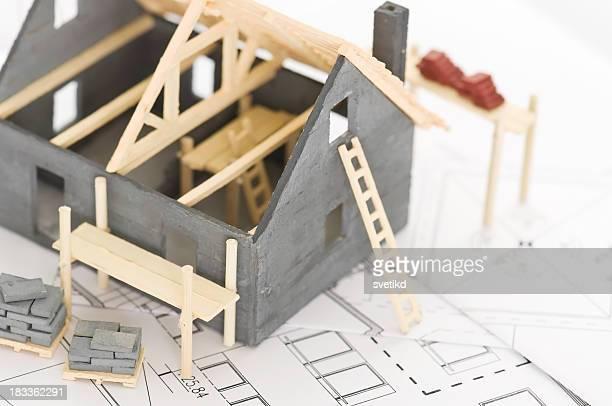 Maison de construction.