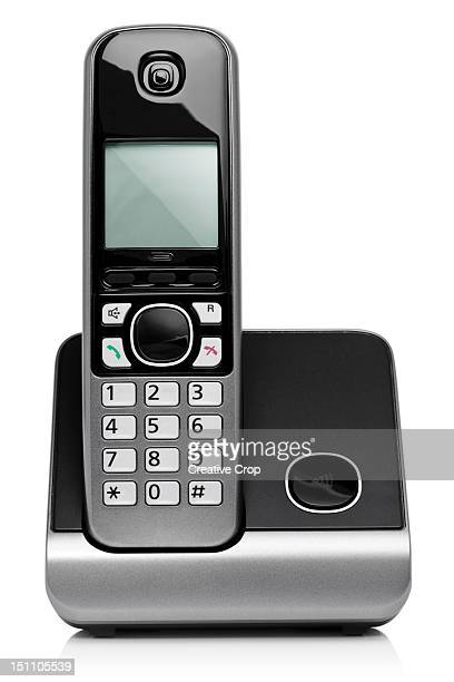 Home cordless digital phone on charging base