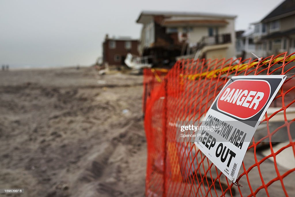 A home damaged by Hurricane Sandy is viewed along the beach in the Rockaways on January 15, 2013 in the Queens borough of New York City. A $50.7 billion Superstorm Sandy aid package is expected to be voted on today in the House. The package, which has come under criticism by some fiscal conservatives, is being heavily pushed by Northeastern lawmakers. The money would be spent on immediate needs to the region including $5.4 billion for New York and New Jersey transit systems and $5.4 billion for the Federal Emergency Management Agency's disaster relief aid fund.