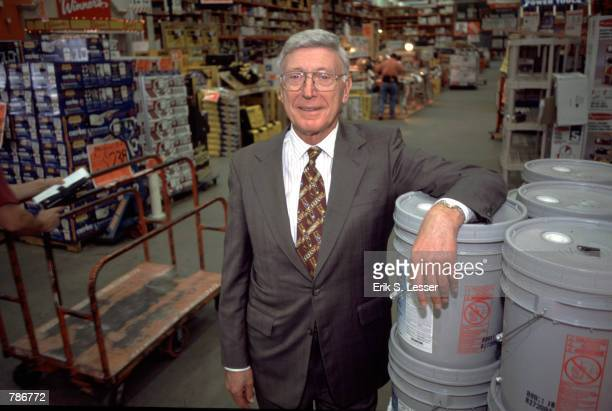 Home Depot CEO Bernie Marcus poses for a portrait in a Home Depot store October 15 1998