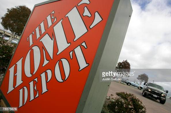 Home Depot sign sits in front of the store February 20 2007 in San Rafael California Atlanta based Home Depot Inc reported a 28 percent drop in...