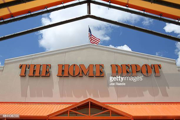 Home Depot store is seen on August 18 2015 in Miami Florida Today Home Depot shares rose as the company reported secondquarter earnings that met Wall...