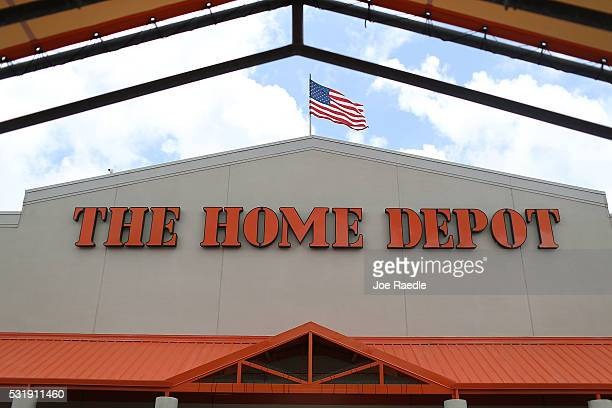 Home Depot store is seen on May 17 2016 in Miami Florida Home Depot raised its yearly outlook after first quarter sales figures showed the home...