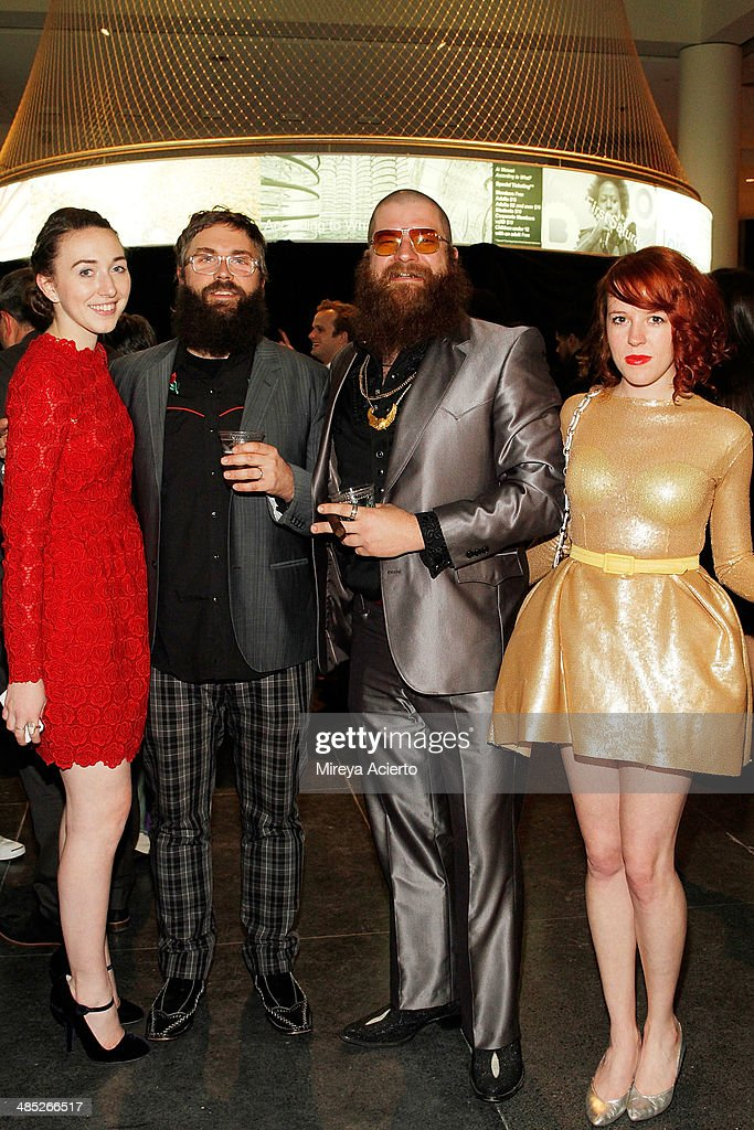 Home Editor at Vogue magazine Rebecca Stadlen, artist Ghost of a Dream and theater artists Paul Outlaw and Jen Catron attend the Brooklyn Museum's 4th annual Brooklyn Artists Ball on April 16, 2014 in the Brooklyn borough of New York City.