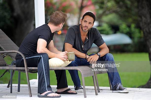 GRACELAND 'Home' Episode 211 Pictured Carmine Giovinazzo as Sid Daniel Sunjata as Paul Briggs