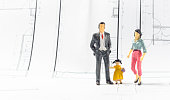 Miniature of business and family concept  family build home interior