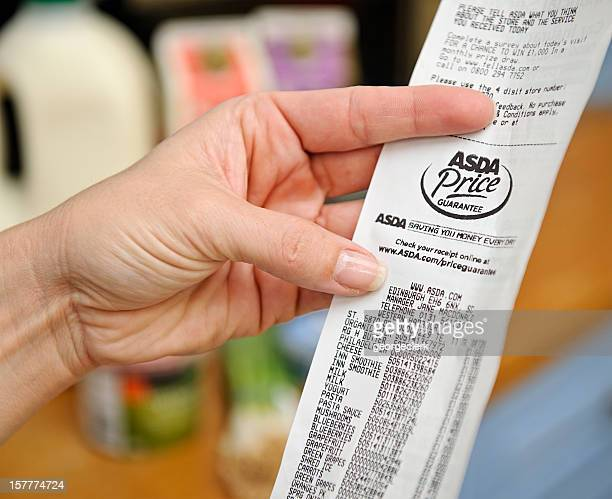 Home Finances - Supermarket Receipt