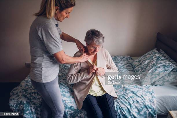 Home Help for Senior Woman at Home