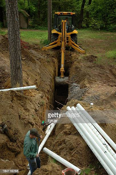 Home Improvement Septic Construction Workers