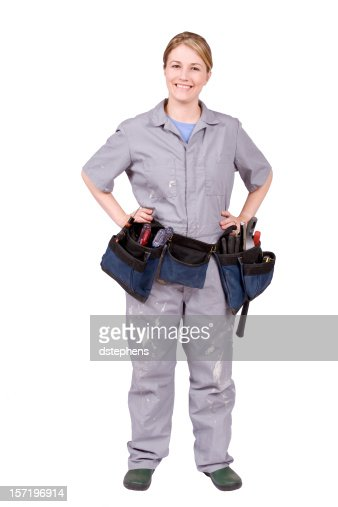 Home Improvement Woman with tool belt