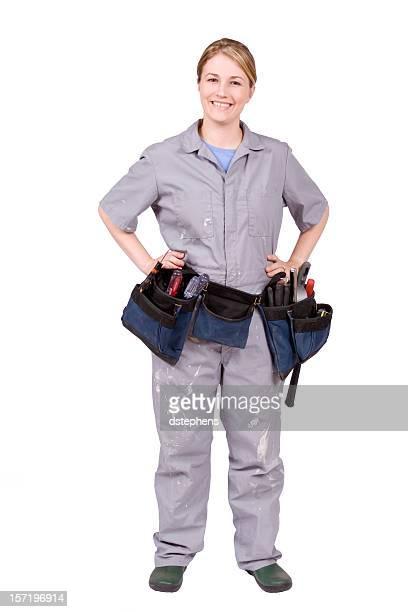 Outil de bricolage femme avec ceinture