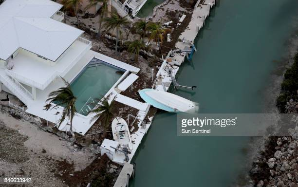A home in Duck Key Fla sustained significant damage from Hurricane Irma on Wednesday Sept 13 2017