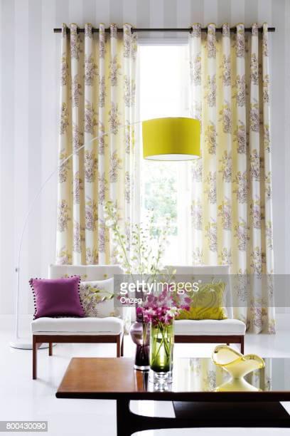Interieur van een moderne woonkamer met meubilair