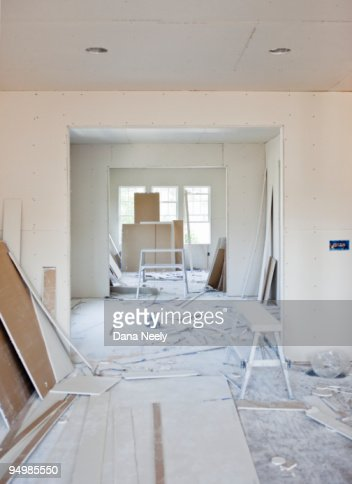 Home interior under construction : Stock Photo