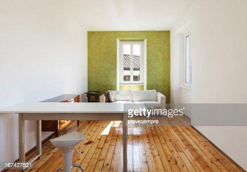 Vista interior, Sala de Casa : Foto de stock