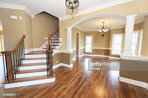 Home interior with hardwoods