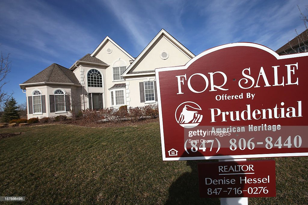 A home is offered for sale by Prudential in a Toll Brothers housing development on December 4, 2012 in South Barrington, Illinois. Toll Brothers beat fiscal fourth-quarter earnings expectations which CEO Douglas Yearley Jr. attributed to an increase in home prices, low interest rates and a pent up demand. Nationwide home prices increased 6.3% in October from a year earlier, the biggest year-over-year gain since 2006.