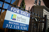 A home is offered for sale in the Logan Square neighborhood on September 21 2015 in Chicago Illinois Sales of previously owned homes fell more than...