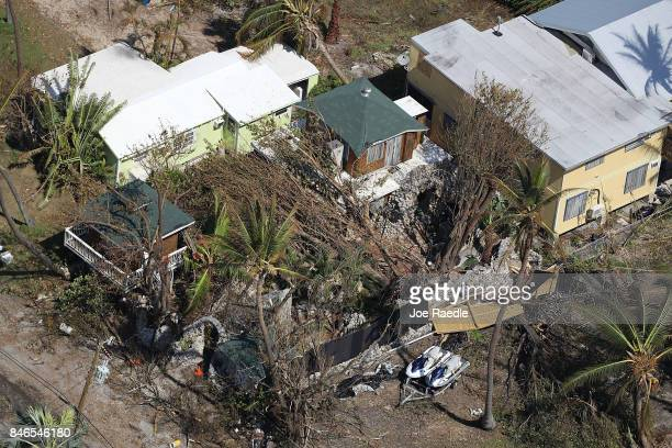 A home is seen after Hurricane Irma passed through the area on September 13 2017 in Little Conch Key Florida The Florida Key's took the brunt of the...