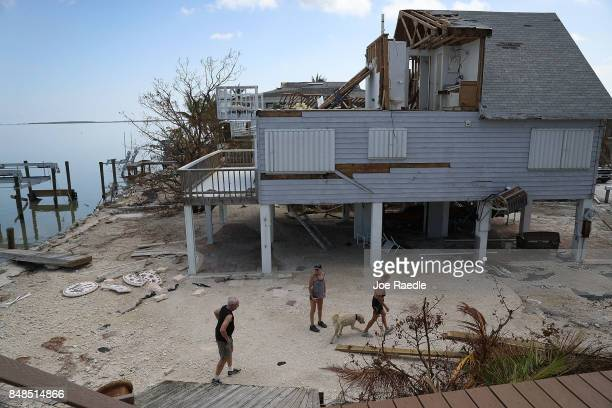 A home is seen after it was damaged as hurricane Irma passed through the area on September 17 2017 in Summerland Key Florida The Federal Emergency...