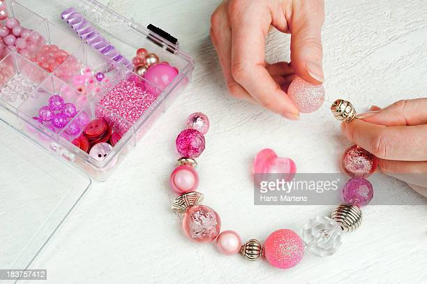home made bead jewelry making as a hobby