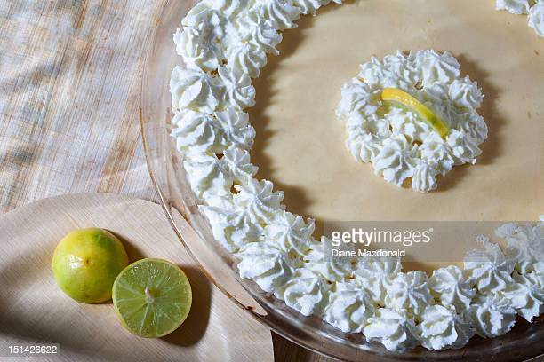 Home made classic yellow key lime pie