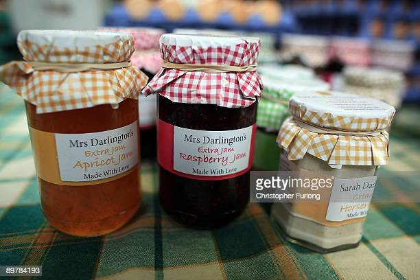 Home made jam waits to be bought in a Cheshire market on August 14 2009 in Knutsford United Kingdom The UK government has issued a warning that...