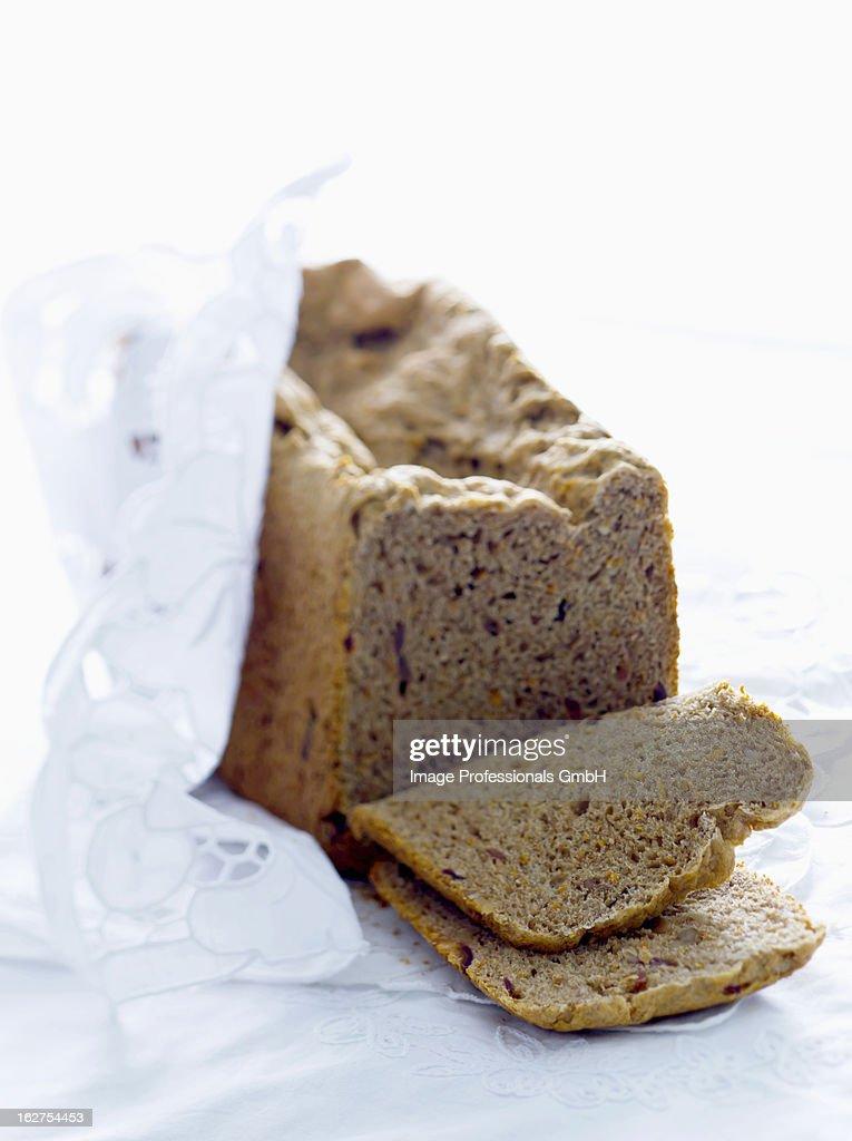 Home made orange bread : Stock Photo