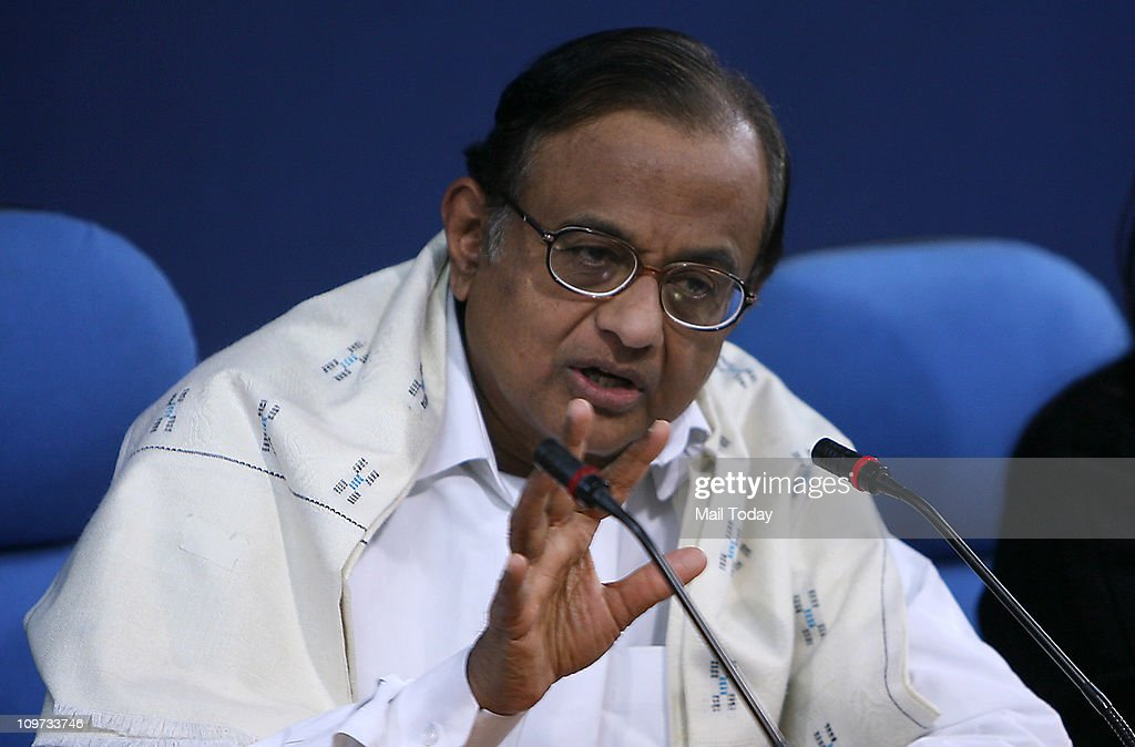 Home Minister P Chidambaram addressing the monthly press conference of the ministry in New Delhi on Tuesday